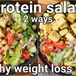 2 high protein salad recipe for weight loss – channa & sprout salad | 2 vegan weight loss salad