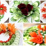 5 Super Salad Decorations Ideas – Cucumber,Tomato,Carrot,Red beet Carving Garnish