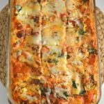 Spinach Lasagna. So easy to make! The leftovers actually taste better than when …