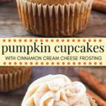 These pumpkin cupcakes with cinnamon cream cheese frosting are the only pumpkin …