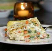 Roasted Vegetable WhiteLasagna-the best part is that the sauce isn't even …