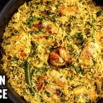 ONE POT CHICKEN AND RICE   EASY CHICKEN RICE RECIPE   ONE PAN CHICKEN RICE