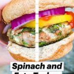 Quick and EasySpinach and Feta Turkey Burgers | Healthy Recipe | Meal Prep | Gluten-Free