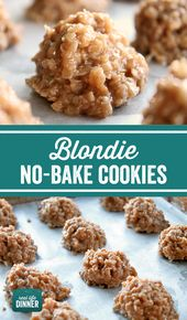 Holy Smokes, these Blondie No Bake Cookies are sooo good! A great spin on a clas…