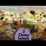 2 Special Low Calorie Chat/Salad Recipes || Healthy Salads/Chats