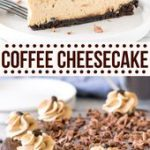This extra creamy coffee cheesecake has an Oreo cookie crust, delicious espresso…