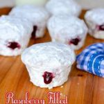 These powdered donut muffins with raspberry jam filling are a great brunch alter…