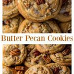 Brown Butter Pecan Cookies are thick, chewy, and crunchy! #butterpecancookies #c…