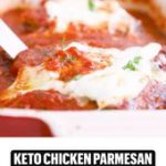 Keto Chicken Parmesan (link in comments!)
