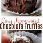 5-Ingredient Peppermint Chocolate Truffles – Baker by Nature…