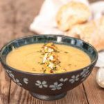 Curried Cauliflower and cheese soup….