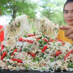 Cooking pork salad with noodle recipe – Cooking skill