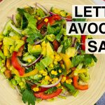 How to Make Romaine Lettuce Salad with Avocado Recipe   Healthy, Easy, Vegan, and Gluten-Free