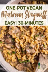 Learn how to make this creamy Mushroom Stroganoff with one pot and just 30 minut…