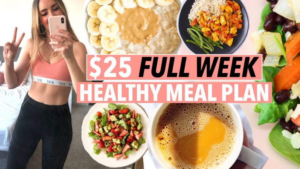 $25 FULL WEEK HEALTHY & WEIGHT LOSS MEAL PLAN (cheap meal prep, college student easy budget recipes)