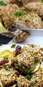 OVEN BAKED GREEK CHICKEN THIGHS