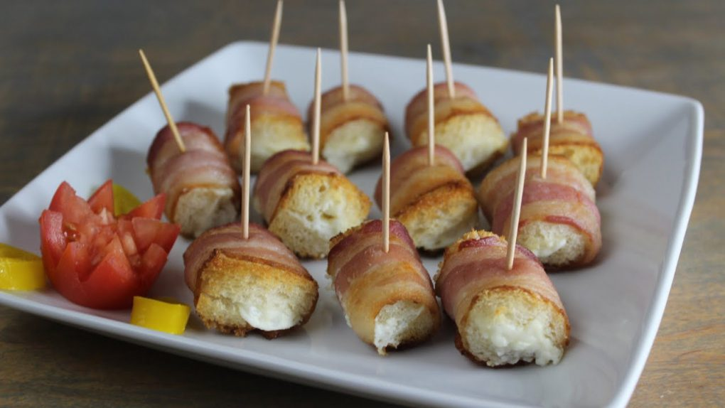 Easy Bacon Wrapped Sandwich Appetizer! ~Tasty & Quick Recipes