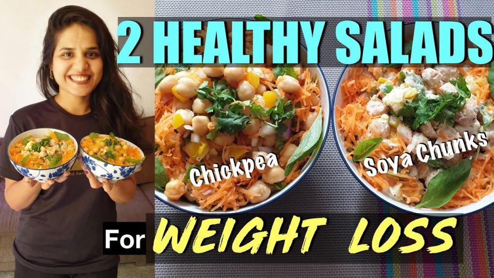 Healthy Salad Recipes for Weight Loss || Soya Chunks and Chickpea Salad || One-Stop Vegetarian